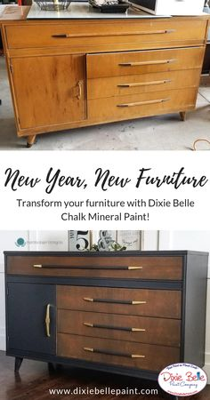Transform your old tired furniture into something you love with Dixie Belle Chalk Mineral Paint. One-of-a-kind furniture made by you! With the help of Dixie Belle Paint you can create any masterpiece you dream of! Shop now! Painting Old Furniture, Repainting Furniture, Refurbished Furniture, Repurposed Furniture, Furniture Making, Painted Furniture, Restoring Old Furniture, Diy Garden Furniture, New Furniture