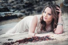 Glamour photo of the friend Vaida done on the beach in Co.Galway, west coast of Ireland