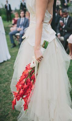Greek Wedding, Rose Wedding, Wedding Bells, Floral Wedding, Gladiolus Wedding Bouquet, Wedding Bouquets, Wedding Dresses, Brides And Bridesmaids, Bridesmaid Bouquet