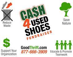 Shoe drive fundraiser, fundraising ideas, school fundraising ideas