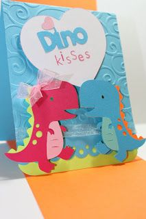 Create a Critter. {Raechel's Cards}: My Pink Stamper NSD Challenge 12 Scrapbook Paper Crafts, Scrapbook Cards, Scrapbooking, Cricut Cards, Stampin Up Cards, Dinosaur Cards, Create A Critter, Disney Scrapbook, Creative Cards