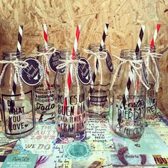 #botellas #deco #vinilos #sorbetes #design