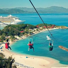 Fly down the world's longest zipline in Labadee.