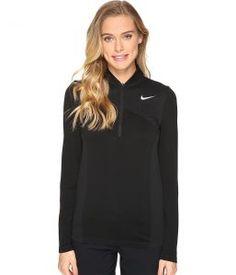 Nike Golf Zonal Cooling Dri-Fit Knit 1/2 Zip (Black/Dark Grey/Flat Silver) Women's Long Sleeve Pullover