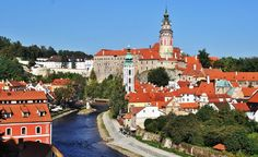 Cesky Krumlov in the Czech Republic grew up around the Gothic castle of the Lords of Krumlov. (From: Photos: Beautiful Villages Around the World) Prague Things To Do, Prague Attractions, Places To Travel, Places To See, Eastern Europe, Budget Travel, Travel Info, Czech Republic, Dream Vacations