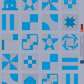 Building Blocks Cheater Cloth Quilt Panel by leah_day, click to purchase fabric