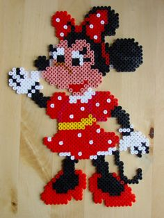 Minnie Mouse hama beads by Hester