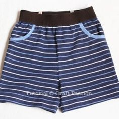 Free pattern: Knit shorts for toddler girls and boys · Sewing | CraftGossip.com