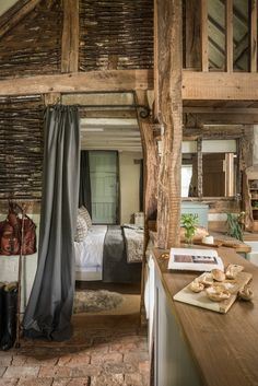 A Barn-Style Holiday Cottage Oozing With Rustic Charm - Dear Designer Cottage Style Decor, Rustic Cottage, Rustic Barn, Wooden Cottage, Barn Wood, Barn Conversion Interiors, Brick Flooring, Rustic Theme, Rustic Style