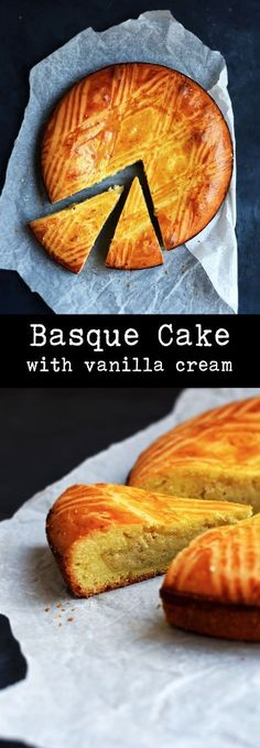 """The Basque Cake ( in French """"Gâteau Basque) is probably the most famous and traditional dessert from the Basque Region of France."""