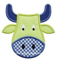 Bull Applique Design