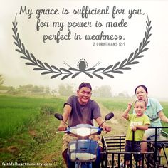 My grace is sufficient for you...
