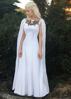 Game of Thrones Costume  Daenerys Meereen Dress  White