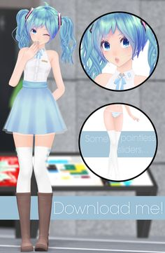 """UPDATE: I FIXED A FEW THINGS TO MAKE HER A LITTLE MORE """"EASY"""" TO USE? I ADDED TWO NEW SLIDERS TO REMOVE THE TRANSPARENT SKIRT AND TO TURN ON THE WAIST SINCE IT IS NOW TURNED OFF. PLEASE LET ME KNOW..."""