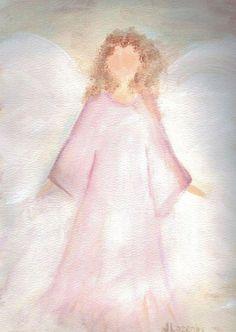 Angel notecards original angel painting cards von JaneLazenbyartist