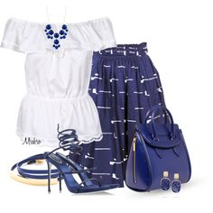 Blue & White, created by mrsbro on Polyvore