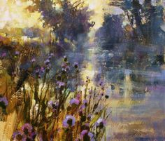 Morning Mist and Thistles by British Contemporary Artist Chris FORSEY