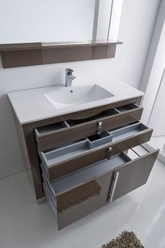 Contemporary Decor Idea 2216058644 Awe Inpsiring arrangements to kick-start a classy rustic contemporary decor inspiration Fun Contemporary home decor ideas shared on a wonderful day 20190206 Diy Bathroom Vanity, Bathroom Furniture, Bathroom Storage, Bathroom Interior, Small Bathroom, Modern Furniture, Bathroom Ideas, Bathroom Flooring, Rustic Furniture