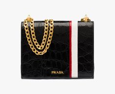 5e4dd13de4ad 48 Best ***PRADA*** images | Calf leather, Leather Bag, Metal chain