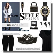Emoji Fashion by sabine-713 on Polyvore featuring Mode, Alexander Wang, River Island, Skechers, Lancôme, Chanel and Eyeko