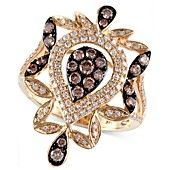 Espresso by EFFY Collection Diamond Ring, 14k Gold Brown (3/8 ct. t.w) and White Diamond (1/3 ct. t.w.) Chandelier Ring
