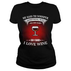 I LOVE WINE TSHIRT