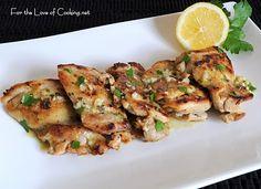 With a great Greek Salad... Mediterranean Chicken Thighs