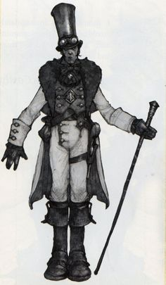 Reaver concept art from Fable III. Fable 3, Character Inspiration, Character Design, Character Portraits, Comic Art, Video Game, Concept Art, Steampunk, Old Things