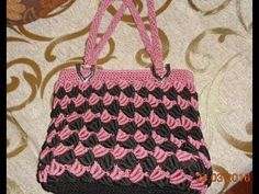How to: crochet handbag pattern (bullion stitch)