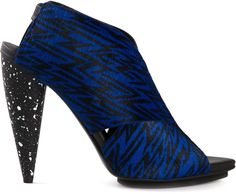 Proenza Schouler Calf Hair Crisscross Sandals
