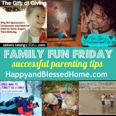 Family Fun Friday Week 60 and Successful Parenting Tips   Happy and Blessed Home