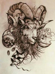 goat tattoo - Pesquisa Google