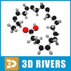 Maya Docosahexaenoic Acid - 3D Model