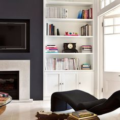 In-built storage unit - Living Room: Monochrome: Decorating Ideas: Interiors