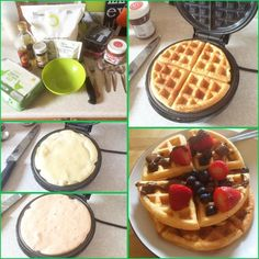 Protein waffle Sunday :) Bit of an extra treat with them today...#nutella! Protein waffles have become a regular part of my food. They taste awesome and are simple as hell to make! These are one white chocolate protein and one strawberry protein with strawberries and blueberries...and Nutella All waffles come in about 293cals total (plus fruit and Nutella) About 40g protein 13g fat Less than 2g carbs. Exceptional breakfast! #protein #proteinpowder #proteinwaffles #waffles #bulkpowders ...