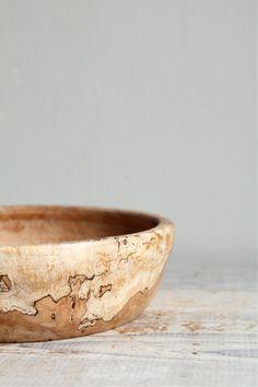 vintage hand-turned burl wood bowl
