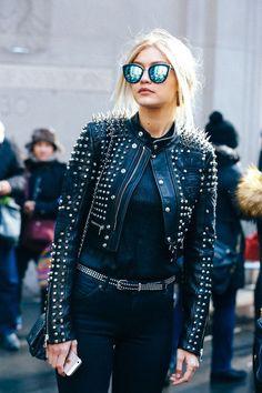 Moda Para Garotas, Curtidas, Jaqueta De Couro, Oculos De Sol, Roupa Outono a97cc7ca71