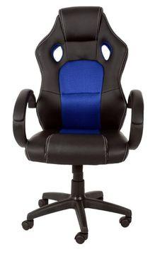 #officechair #office #chair #fauxleather #fauxleatherchair #blackandblue