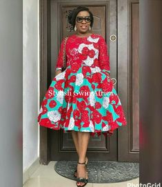 If you are dressing to make an impression, our latest Ankara collection beautifully executed the trends of the season with impeccable personality. The stunning styles are not only eye-catching but… African Dresses For Women, African Print Dresses, African Attire, African Fashion Dresses, Ghanaian Fashion, Ankara Fashion, African Prints, African Women, Ladies Dresses