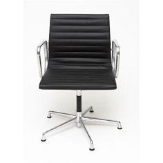 Fotel konf. CH1081, czarna skóra