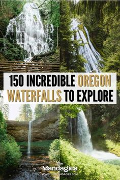 There are so many waterfalls in Oregon to explore, there's one to see no matter where you travel in the state! We're sharing the most famous Oregon waterfalls here, with tips, maps, and downloadable bucket lists to print too! #oregon #PNW #oregonstate #PacificNorthwest #portland #waterfalls Famous Waterfalls, Forest Waterfall, Waterfall Hikes, Oregon Road Trip, Oregon Travel, Ramona Falls, Multnomah Falls, Cascade Mountains