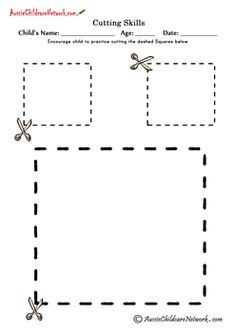Cutting Shapes Worksheets of cutting out pictures of shapes See Also Make your own website Creating a beautiful website is s. Cutting Activities, Pre K Activities, Preschool Activities, Physical Activities, Preschool Worksheets, Preschool Learning, Early Learning, Printable Worksheets, Teaching