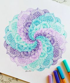 40 Beautiful Mandala Drawing Ideas & Inspiration · Brighter Craft 40 illustrated mandala drawing ideas and inspiration. Learn how you can draw mandalas step by step. This tutorial is perfect for all art enthusiasts. Mandala Art, Design Mandala, Mandala Painting, Mandala Tattoo, Easy Mandala Drawing, Mandala Sketch, Mandala Doodle, Desenho Tattoo, Zentangle Patterns