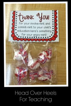 Open House-give parents a thank you note for their involve-mint! Freebie!
