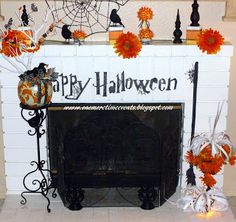 One More Time: Halloween Mantle - done with VINYL