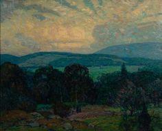 """Spring Twilight,"" John Fabian Carlson, oil on canvas, 25 x 32"", Ashley John Gallery."