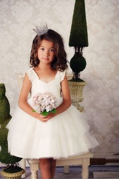 Tulle Flower Girl Dresses by Fattie Pie