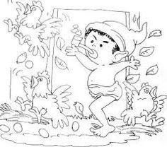 Resultado de imagem para desenhos para colorir do folclore