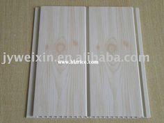 Wood grain PVC ceiling tile