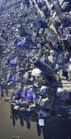 Wingsuit flight over NYC.....BUCKET LIST!!!! That is just plain awesome;)